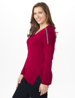 Roz & Ali Beaded Sweater Tunic - Plus - 9