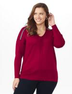 Roz & Ali Beaded Sweater Tunic - Plus - 12