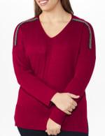 Roz & Ali Beaded Sweater Tunic - Plus - 10