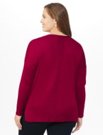 Roz & Ali Beaded Sweater Tunic - Plus - Velvet Red - Back
