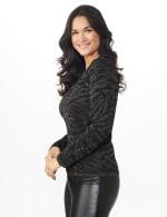 Roz & Ali Animal Lurex Pullover Sweater - 4