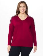 Roz & Ali Beaded Sweater Tunic - Plus - 7