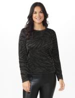 Roz & Ali Animal Lurex Pullover Sweater - 6