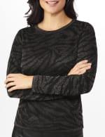 Roz & Ali Animal Lurex Pullover Sweater - 5