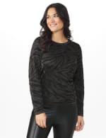 Roz & Ali Animal Lurex Pullover Sweater - 7