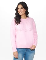 Roz & Ali Pointelle Pullover Sweater - 6