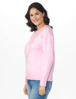 Roz & Ali Pointelle Pullover Sweater - 4