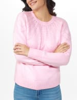 Roz & Ali Pointelle Pullover Sweater - 5