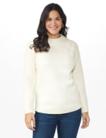 Westport Cable Detail Curved Hem Sweater - 5