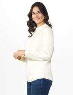Westport Cable Detail Curved Hem Sweater - 3