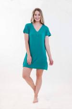One Spirit Short Sleeve Shirt Dress - Fanfare - Front