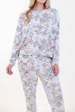 Spirit Jogger Pajama Set - Light Blue - Detail