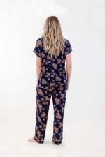Golden Vine Pajama Set - Navy Merkat - Back
