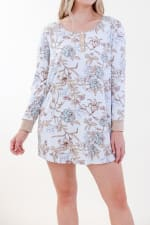 Floral Henley Dress - 1