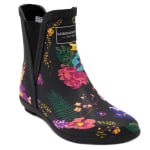 Piccadilly Rain Boots - Black Floral - Detail