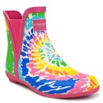 Piccadilly Rain Boots - Fuchsia Tie Dye - Detail