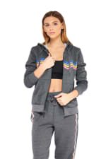 Rainbow Hoodie - Charcoal - Front