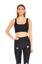 Star Light Star Bright Bra - Black - Front