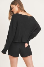 Going in Lounge Top and Bottom - Black - Back