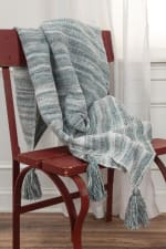 """Multicolor 100% Recycled Polyester Solid Stripe 50""""x60"""" Throw - 2"""