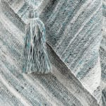 """Multicolor 100% Recycled Polyester Solid Stripe 50""""x60"""" Throw - 3"""