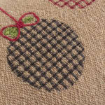 "Jute Christmas Ornaments 14""x26"" Dark Natural Cotton Poly Filled Pillow - Natural - Detail"