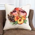 """Fruit and Pinecones 20""""x20"""" Multi Color Cotton Pillow Cover - 5"""