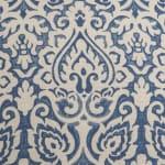 Damask Blue & Natural Throw Pillow - 3