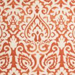 Damask Orange & Natural Throw Pillow - 3