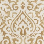 Damask Gold & Natural Throw Pillow - Gold - Detail