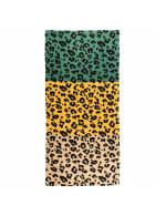 Leopard Grain Scarf - Green / Yellow - Back
