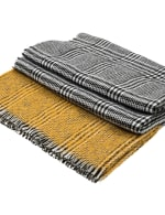 Scarf with Fringes - Yellow / Grey - Detail