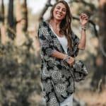 St. Kitts Mandala Kimono Cover Up - 4