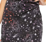 Celestial Evening Slip Dress - Black - Detail