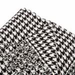 Acrylic Black/White Houndstooth Woven Throw 360g - Black / White - Detail