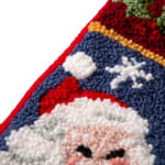 Santa Hooked Stocking - Black / Red / White - Detail