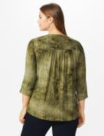 Roz & Ali Sequin Tie Dye Popover - Plus - Olive Green - Back