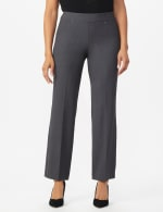 Roz & Ali Secret Agent Tummy Control Pants Cateye Rivets - Average Length - grey - Front