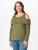 Cold Shoulder Knit Top - Plus - 5