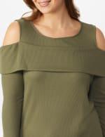 Cold Shoulder Knit Top - Plus - 4