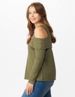 Cold Shoulder Knit Top - Plus - 3