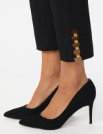 Roz & Ali Tummy Control pull on ankle pant with gold barrel trim at hem - Misses - 3