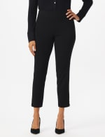 Roz & Ali Tummy Control pull on ankle pant with gold barrel trim at hem - Misses - 4