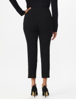 Roz & Ali Tummy Control pull on ankle pant with gold barrel trim at hem - Misses - 2