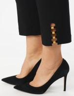 Plus Roz & Ali Tummy Control Pull On Ankle Pant with Gold Barrel Trim - Plus - 4