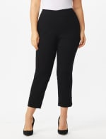 Plus Roz & Ali Tummy Control Pull On Ankle Pant with Gold Barrel Trim - Plus - 3