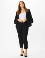 Plus Roz & Ali Tummy Control Pull On Ankle Pant with Gold Barrel Trim - Plus - 5