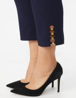Plus Roz & Ali Tummy Control Pull On Ankle Pant with Gold Barrel Trim - Plus - 11