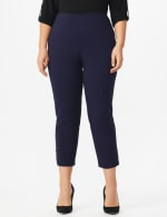Plus Roz & Ali Tummy Control Pull On Ankle Pant with Gold Barrel Trim - Plus - 10