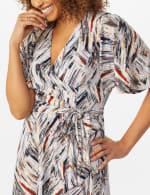 Wrap Brush Stroke Midi Dress - 4